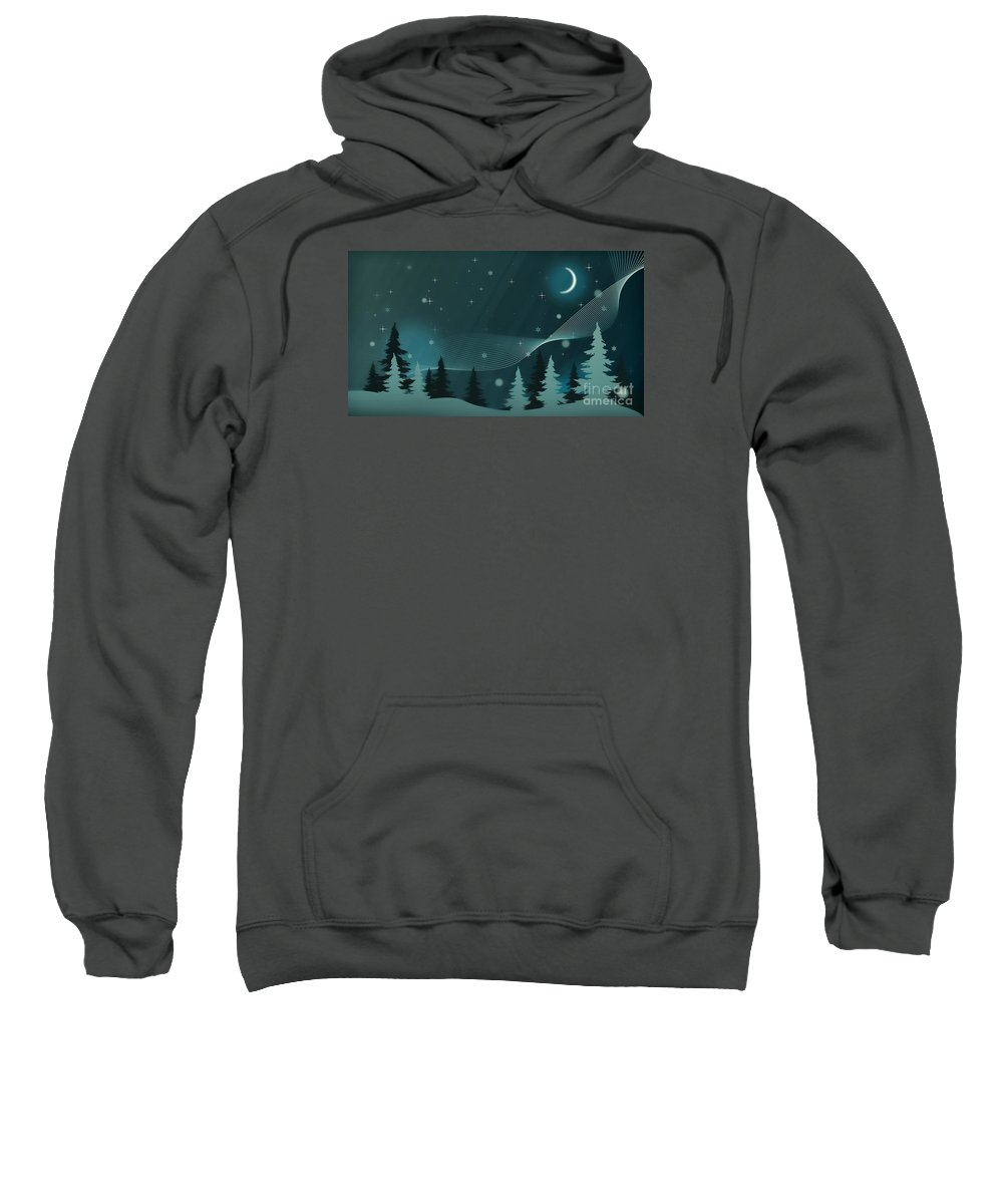 Winter Sweatshirt featuring the photograph Nighttime by Sebastien Coell