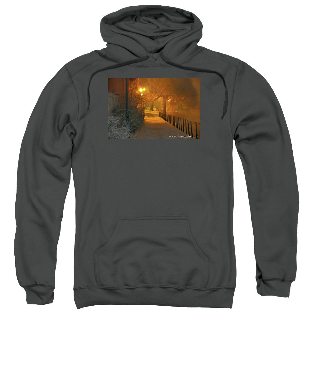 Sweatshirt featuring the photograph Nigthwalk by Stefan Pettersson