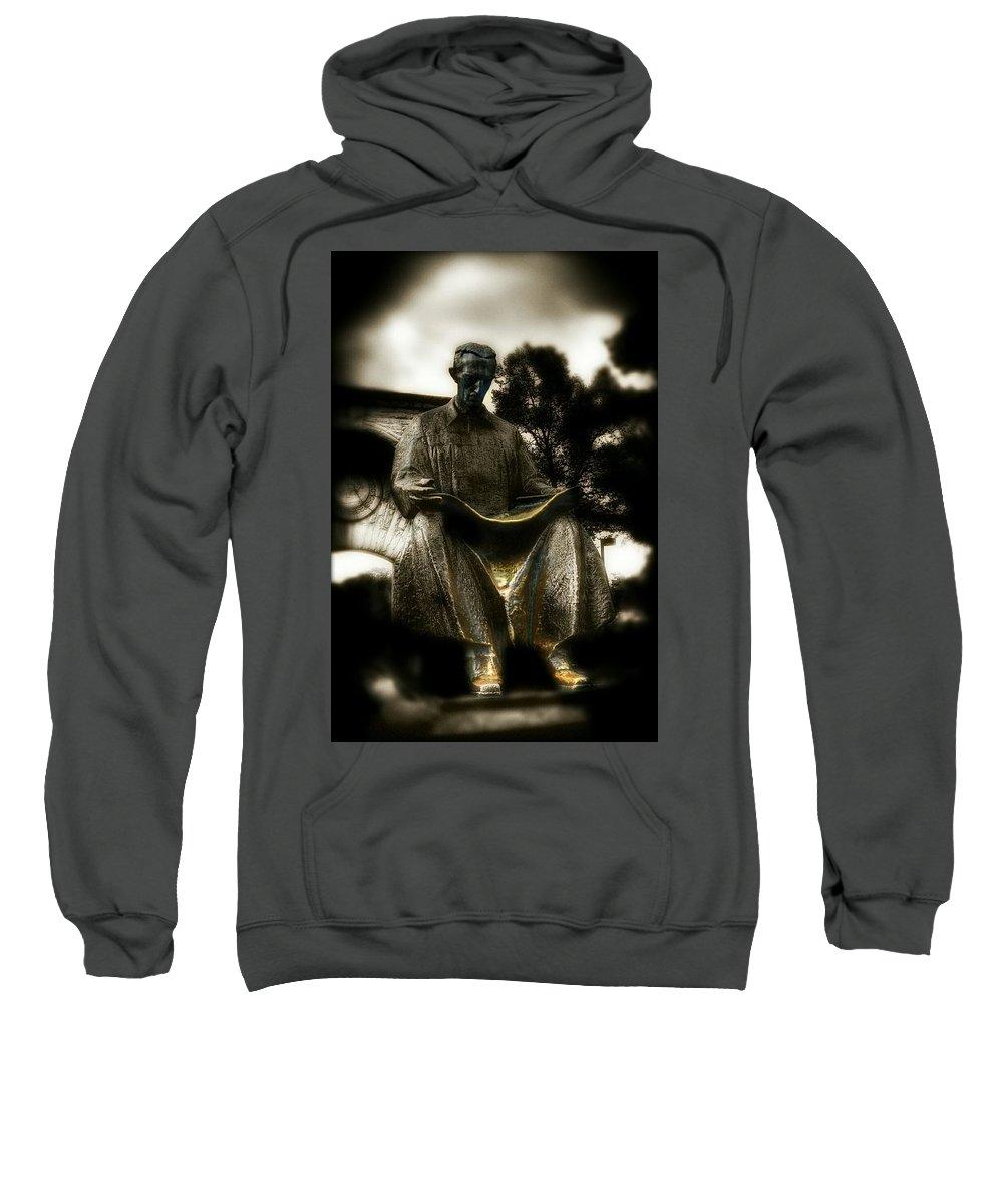 Tesla Sweatshirt featuring the photograph Nikola Tesla by Shelley Smith
