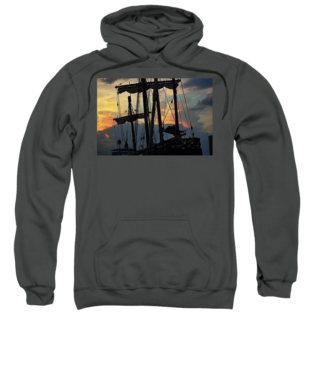 Nina Replica Sweatshirt featuring the photograph Nina Replica Masts by Colleen Fox