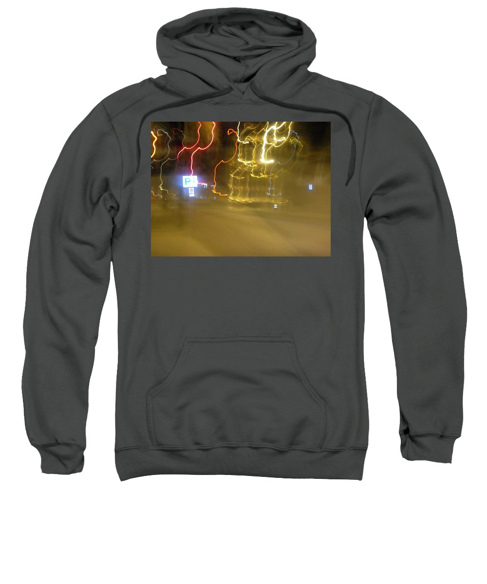 Photograph Sweatshirt featuring the photograph No Parking by Thomas Valentine