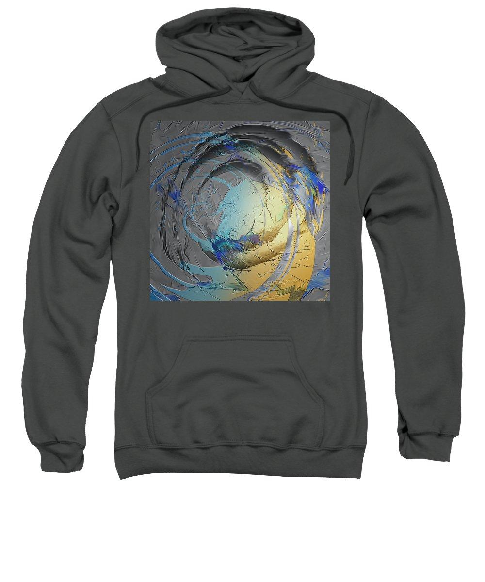 Abstract Sweatshirt featuring the digital art No Title by Heide Hoffmann