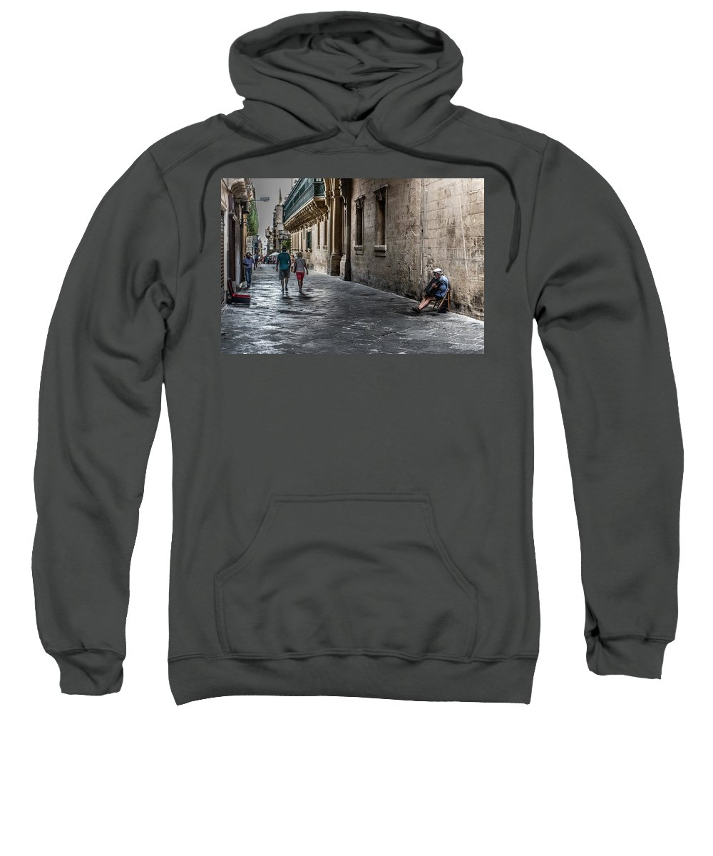 Music Sweatshirt featuring the photograph Nobody Is Listening. by Daniel Smith