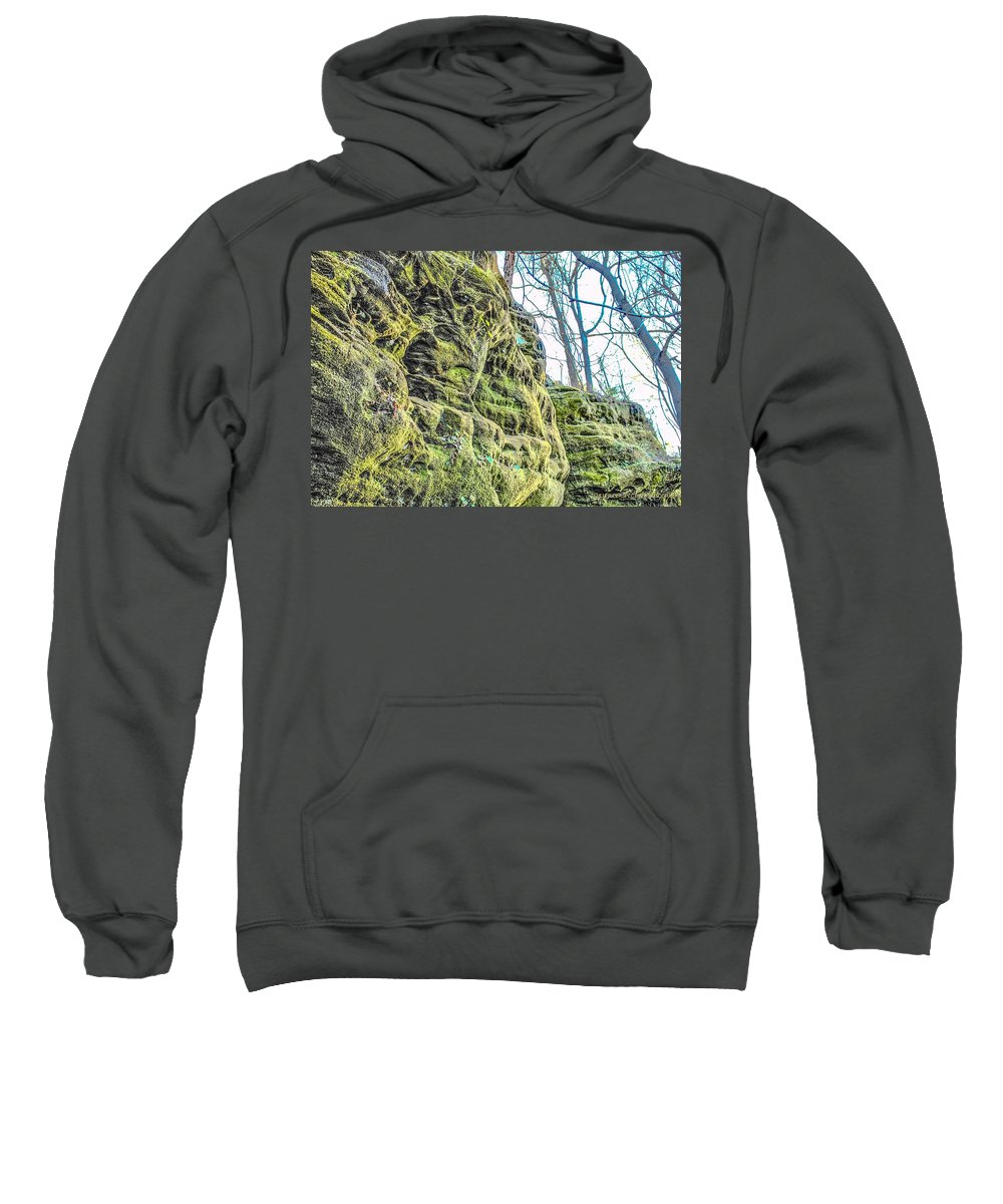 Rock Sweatshirt featuring the photograph Nooks And Crannies by Chad Fuller