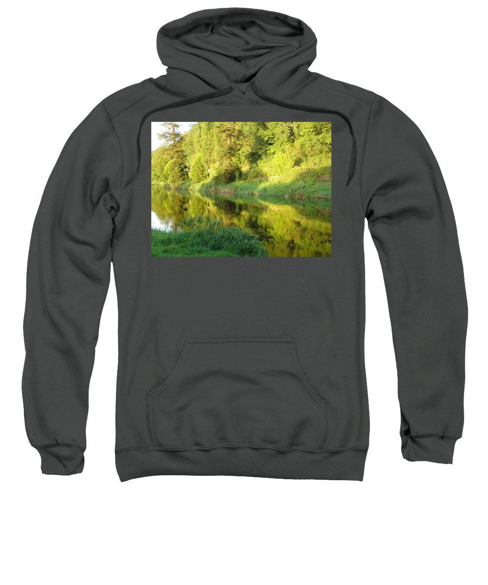 Nore Sweatshirt featuring the photograph Nore Reflections II by Kelly Mezzapelle