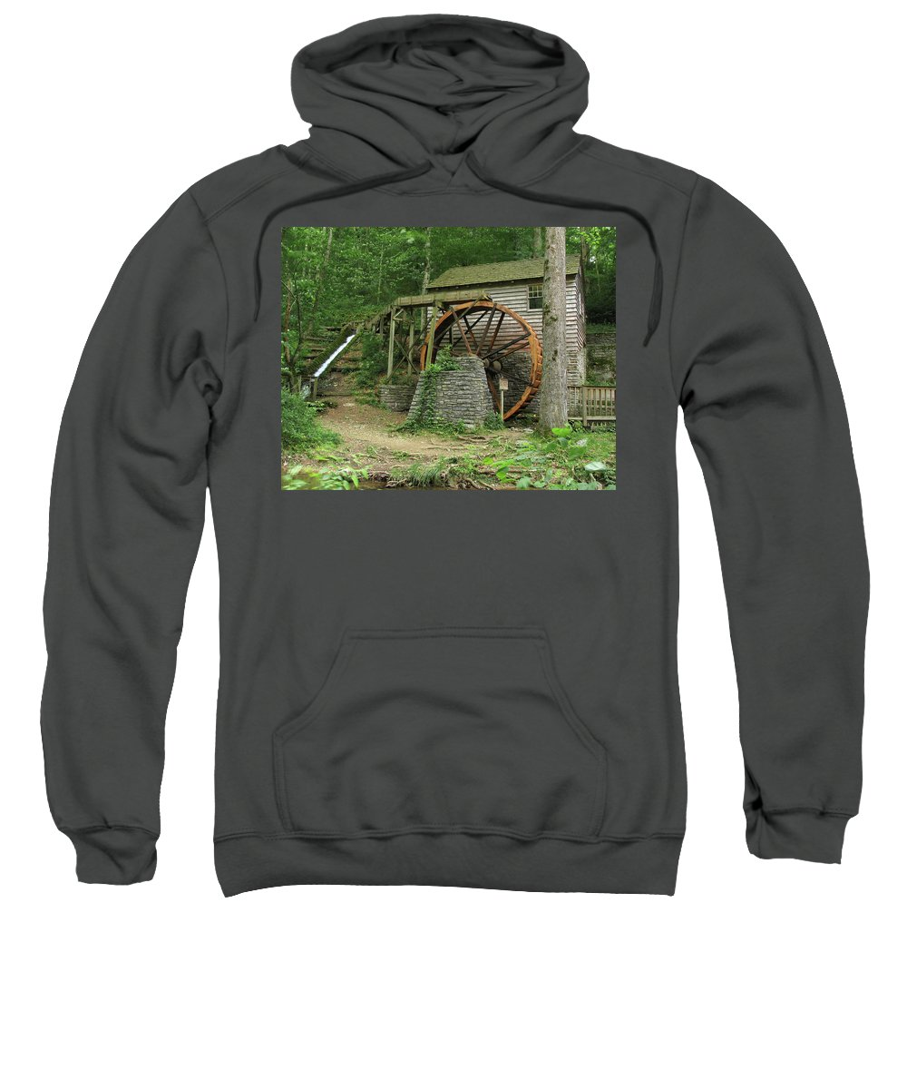 Grist Mill Sweatshirt featuring the photograph Rice Grist Mill II by Douglas Stucky
