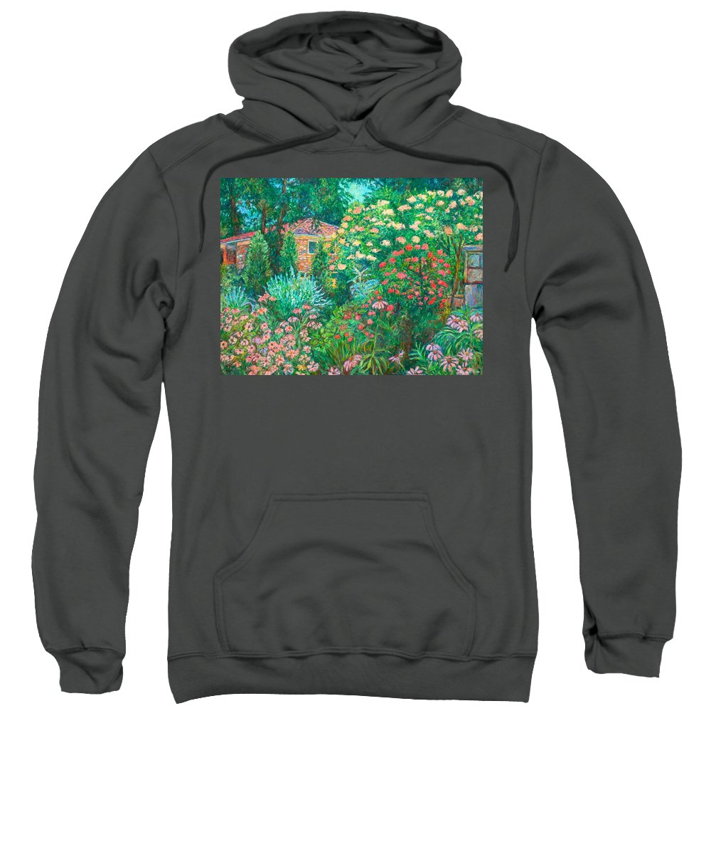Garden Sweatshirt featuring the painting North Albemarle In Mclean Va by Kendall Kessler