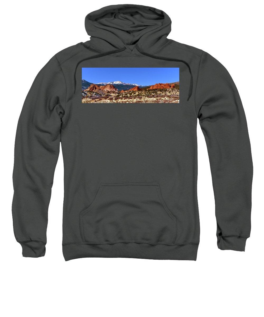 North And South Gateway Rock Sweatshirt featuring the photograph North And South Gateway Rock by Surjanto Suradji