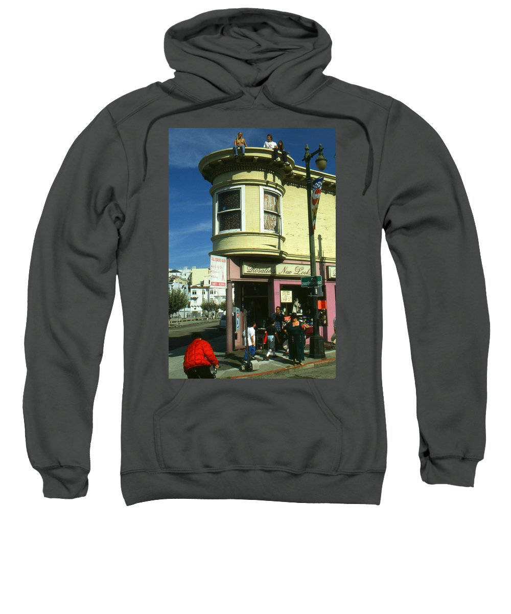San+francisco Sweatshirt featuring the photograph North Beach San Francisco by Peter Potter