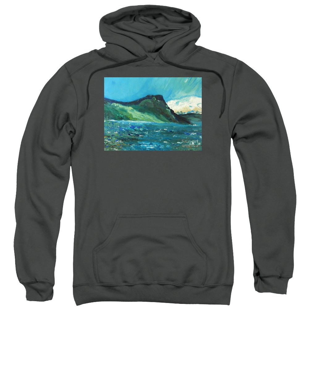 Modern Abstract Sweatshirt featuring the painting North Sea by Lorenz Brochert