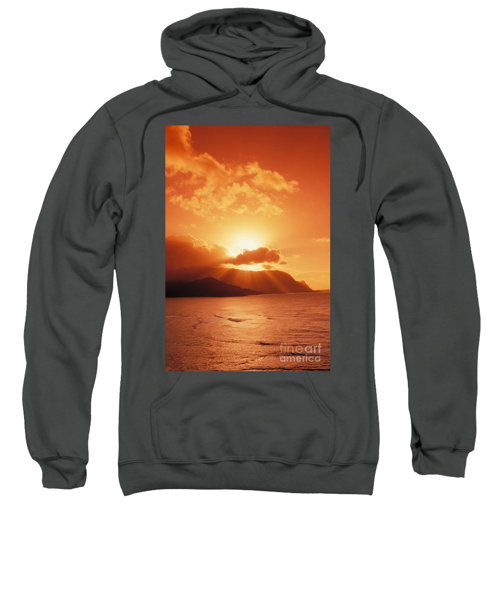 Bali Hai Sweatshirt featuring the photograph North Shore, Sunset by Joe Carini - Printscapes
