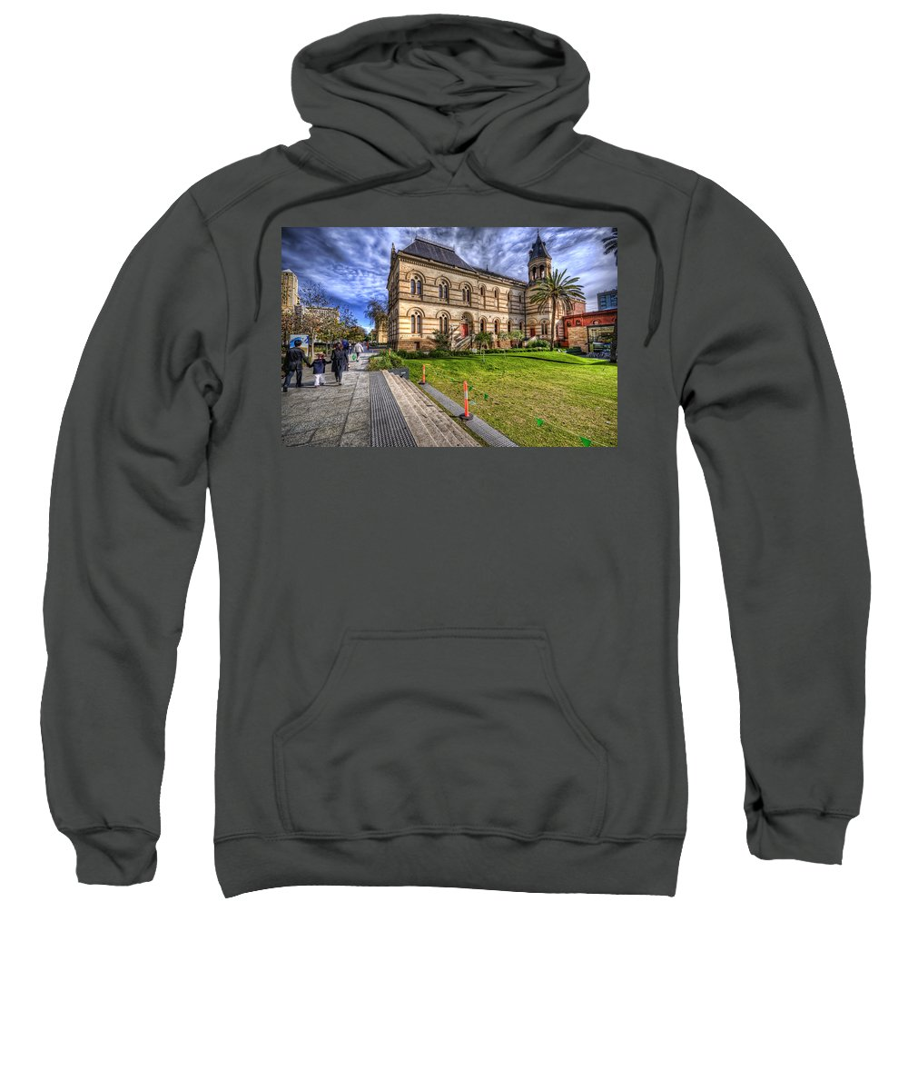 City Sweatshirt featuring the photograph North Terrace by Wayne Sherriff