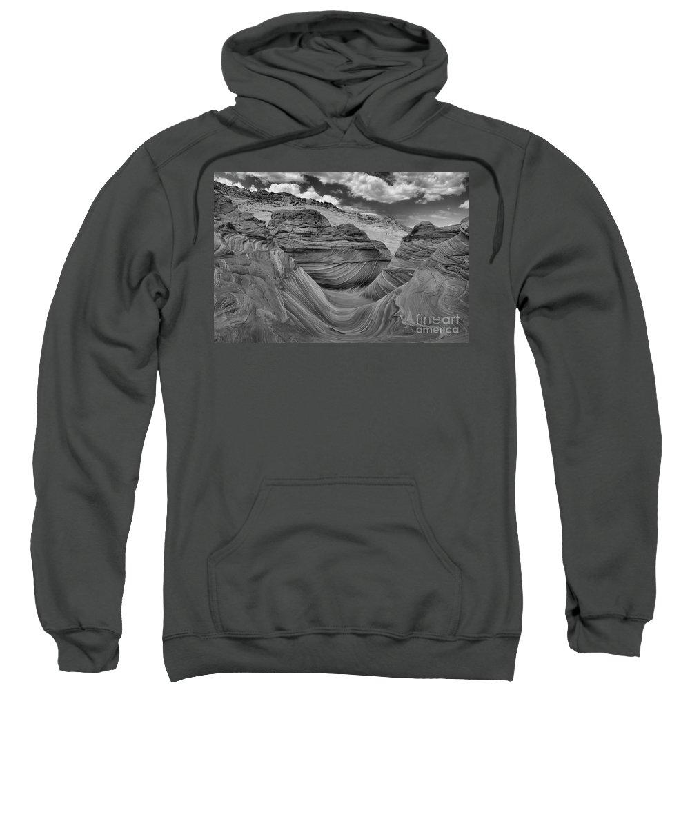 Coyote Buttes Sweatshirt featuring the photograph Northern Arizona Desert Swirls by Adam Jewell