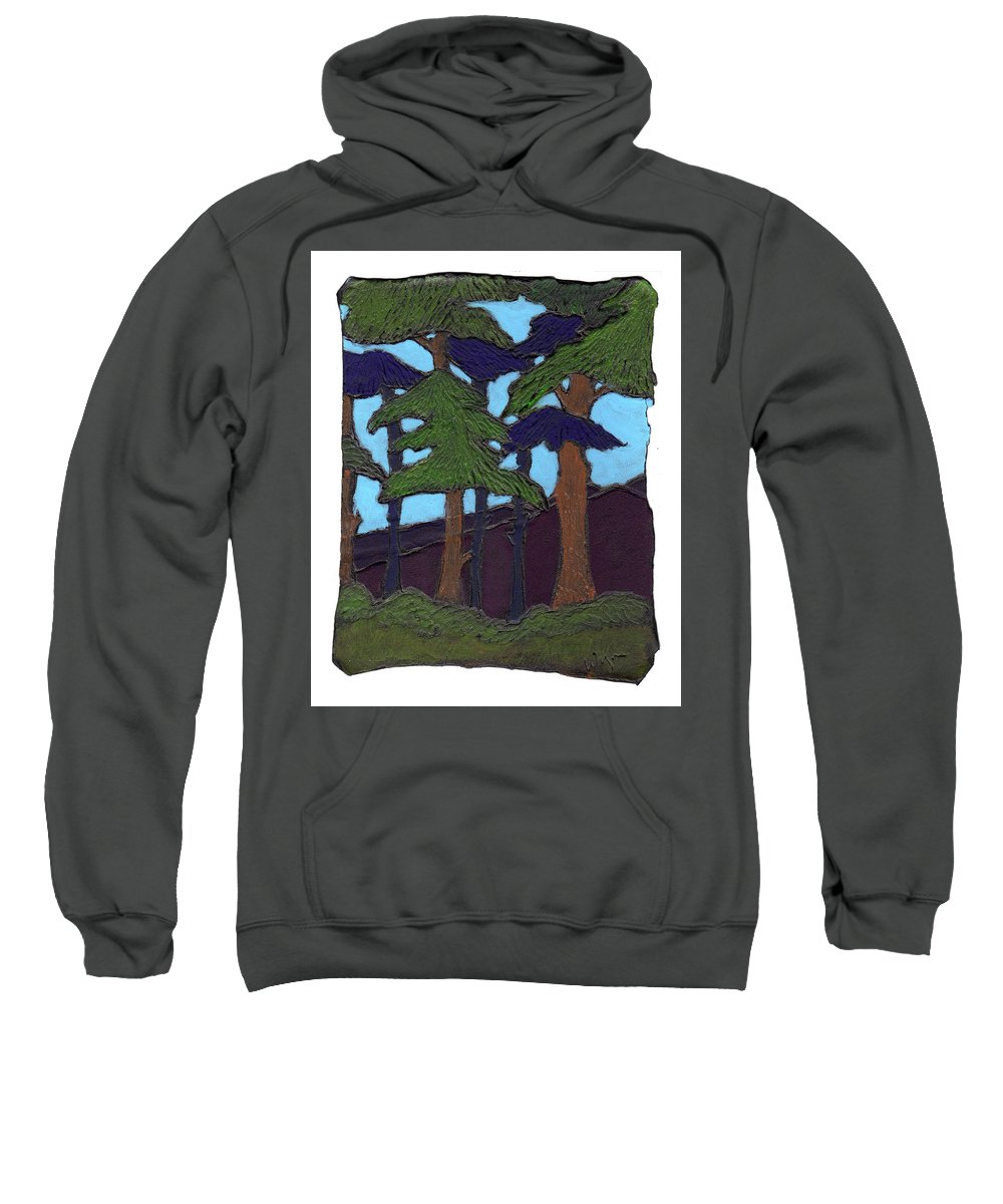 Tree Sweatshirt featuring the painting Northern Woods by Wayne Potrafka