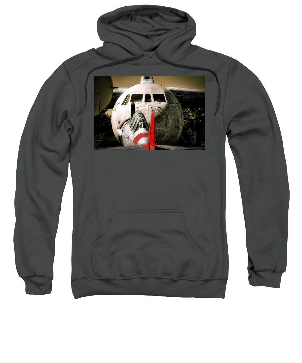 Aircraft Sweatshirt featuring the photograph Nose To Nose by Douglas Craig