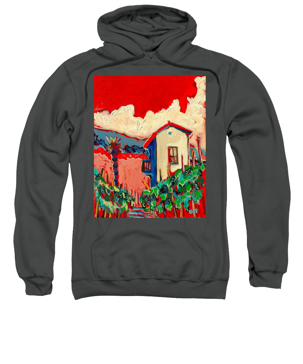 Tuscany Sweatshirt featuring the painting Notare by Kurt Hausmann