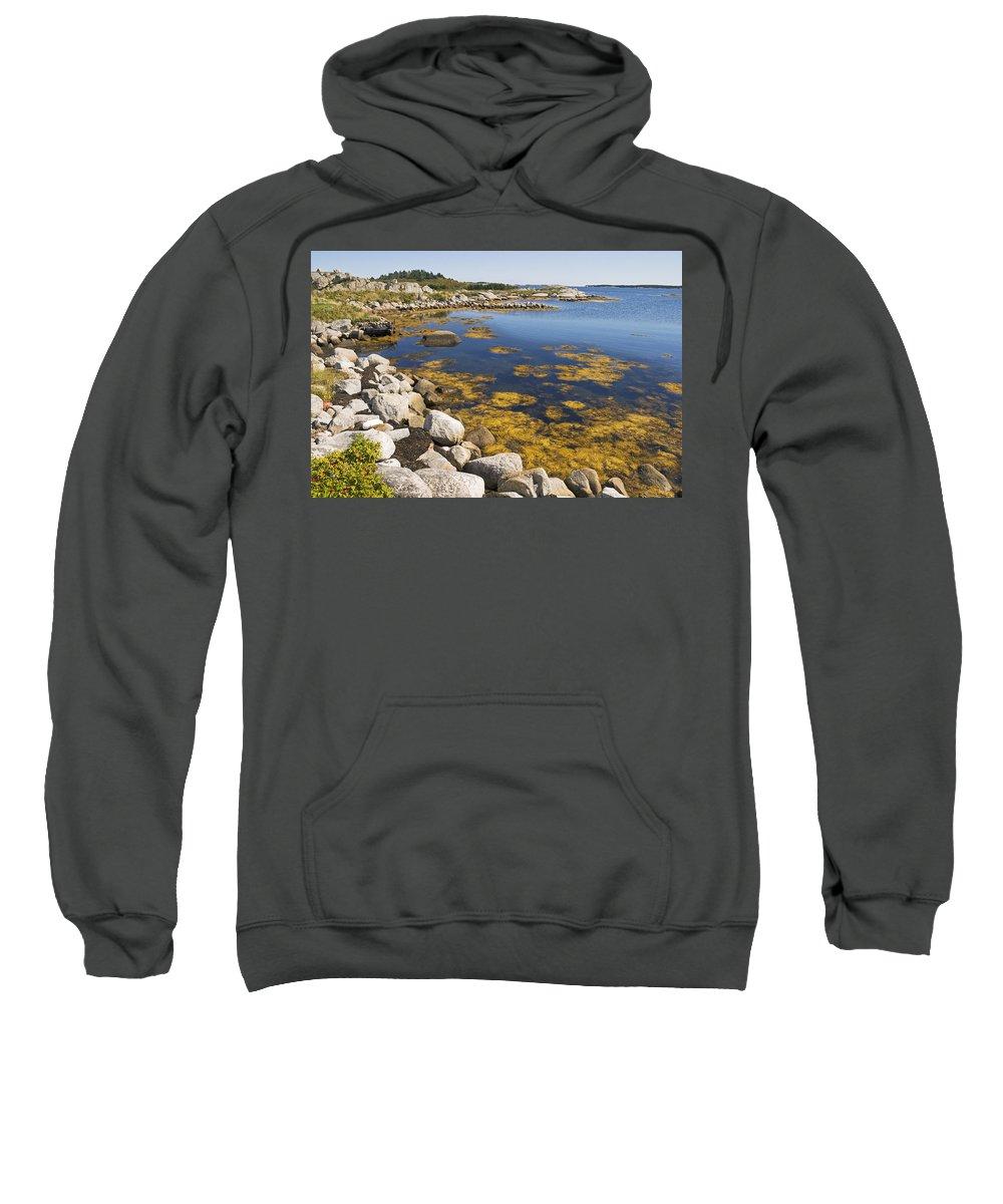 Seascape Sweatshirt featuring the photograph Nova Scotia Seascape by Pierre Logwin
