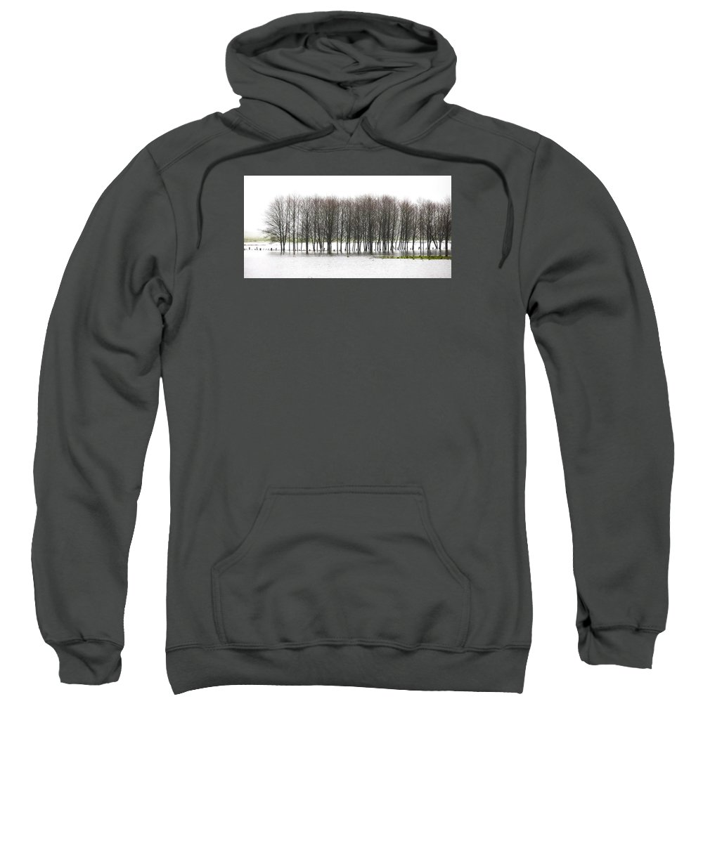 Flood Sweatshirt featuring the photograph November Flood 2 by Jim Young