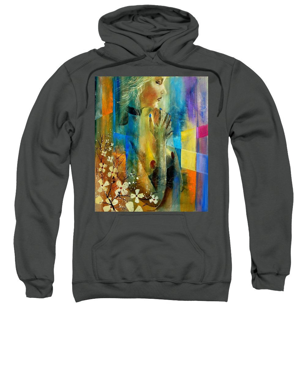 Nude Sweatshirt featuring the painting Nude 5609082 by Pol Ledent