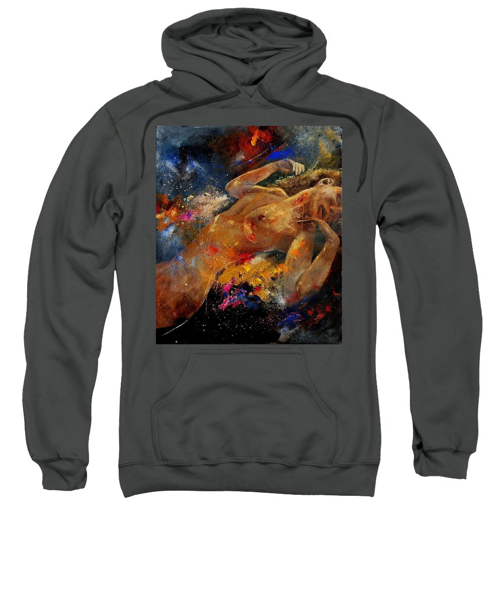 Nude Sweatshirt featuring the painting Nude 67 0407 by Pol Ledent