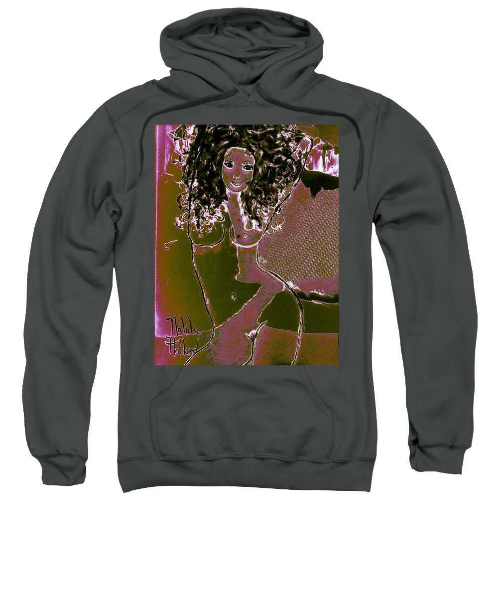 Nude Dancer Sweatshirt featuring the painting Nude Dancer by Natalie Holland