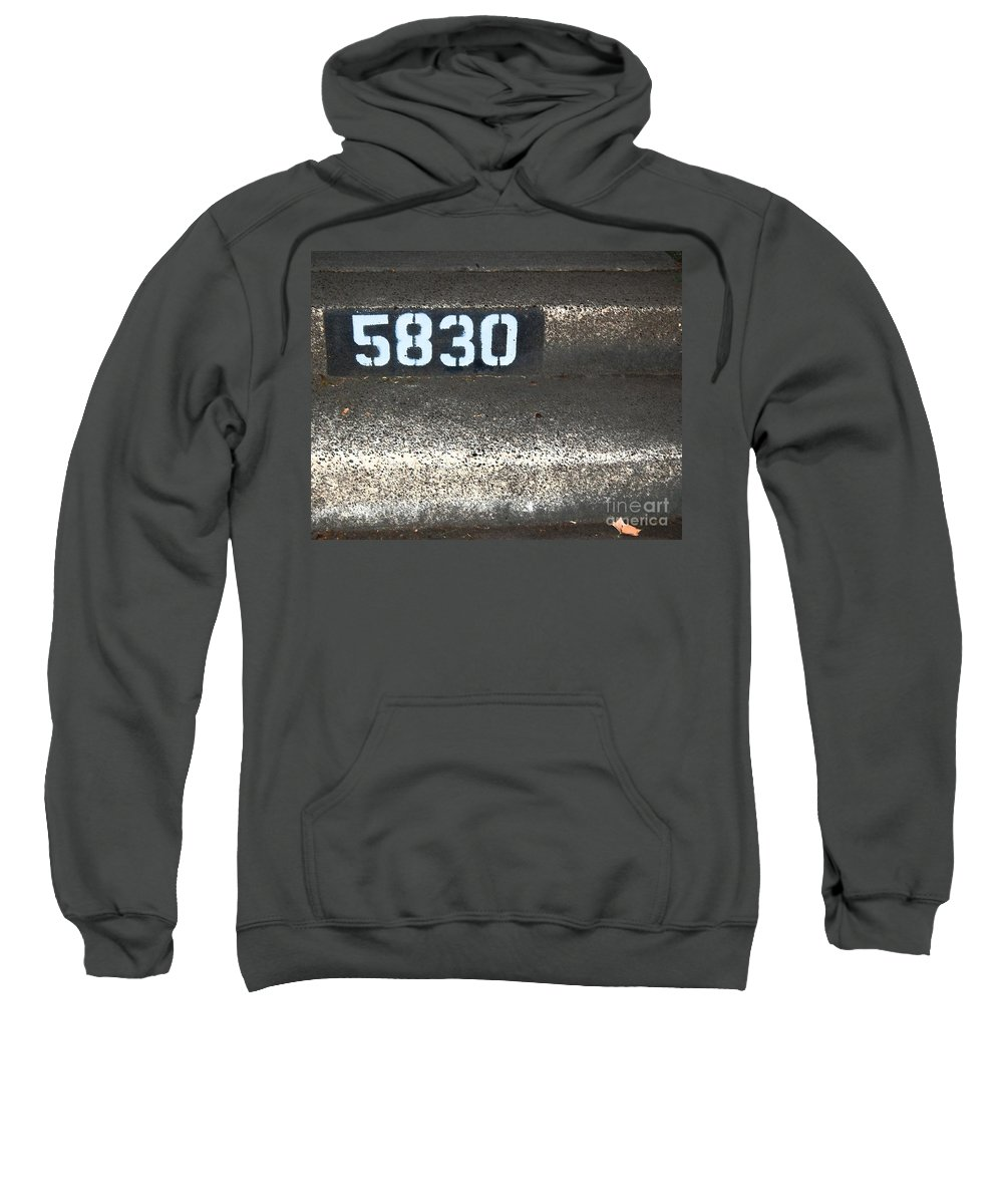 Numbers Sweatshirt featuring the photograph Numbers by Debbi Granruth