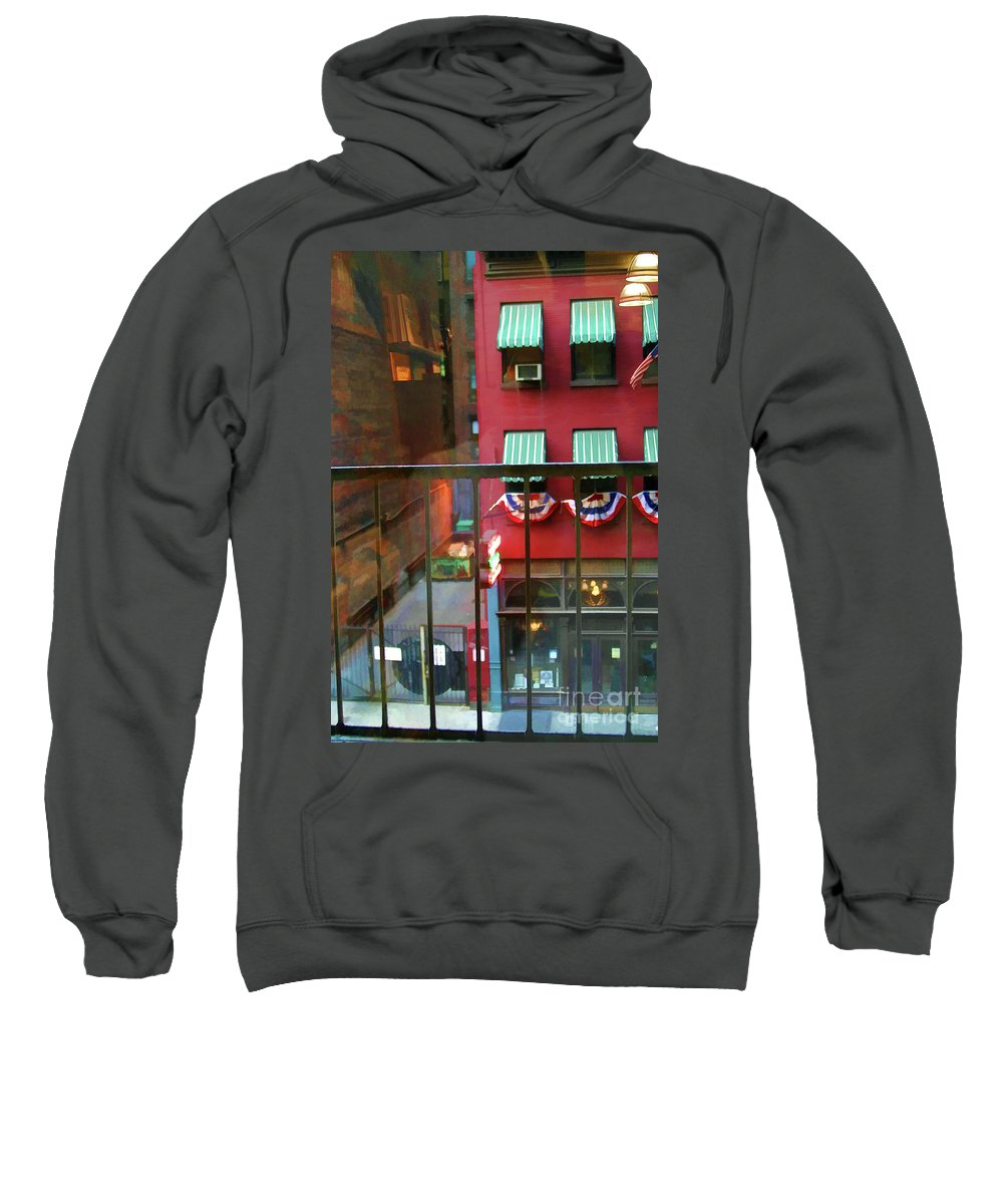 New York Sweatshirt featuring the photograph Ny Architecture Paint by Chuck Kuhn