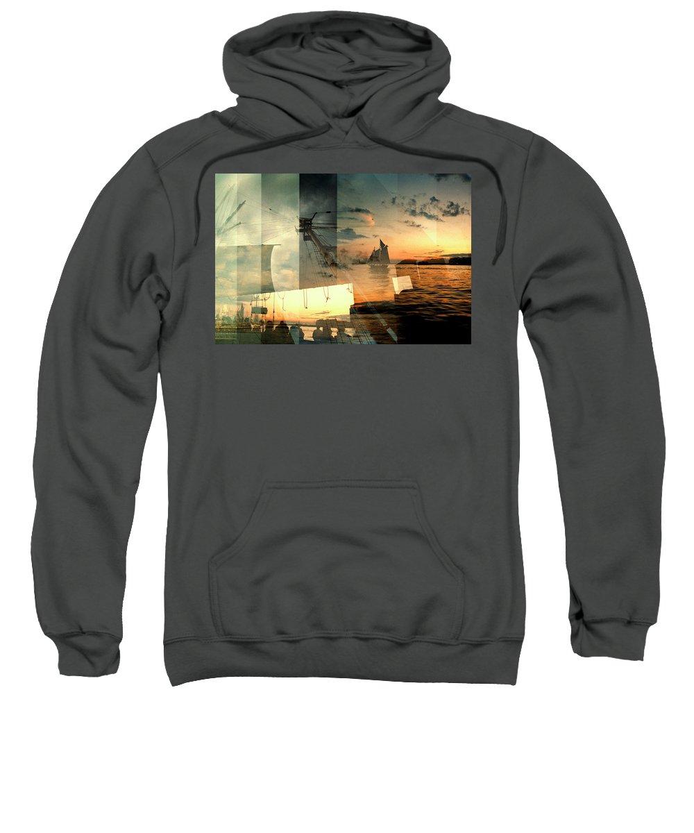 Seascape Sweatshirt featuring the photograph Nyc Harbor by John Emilson