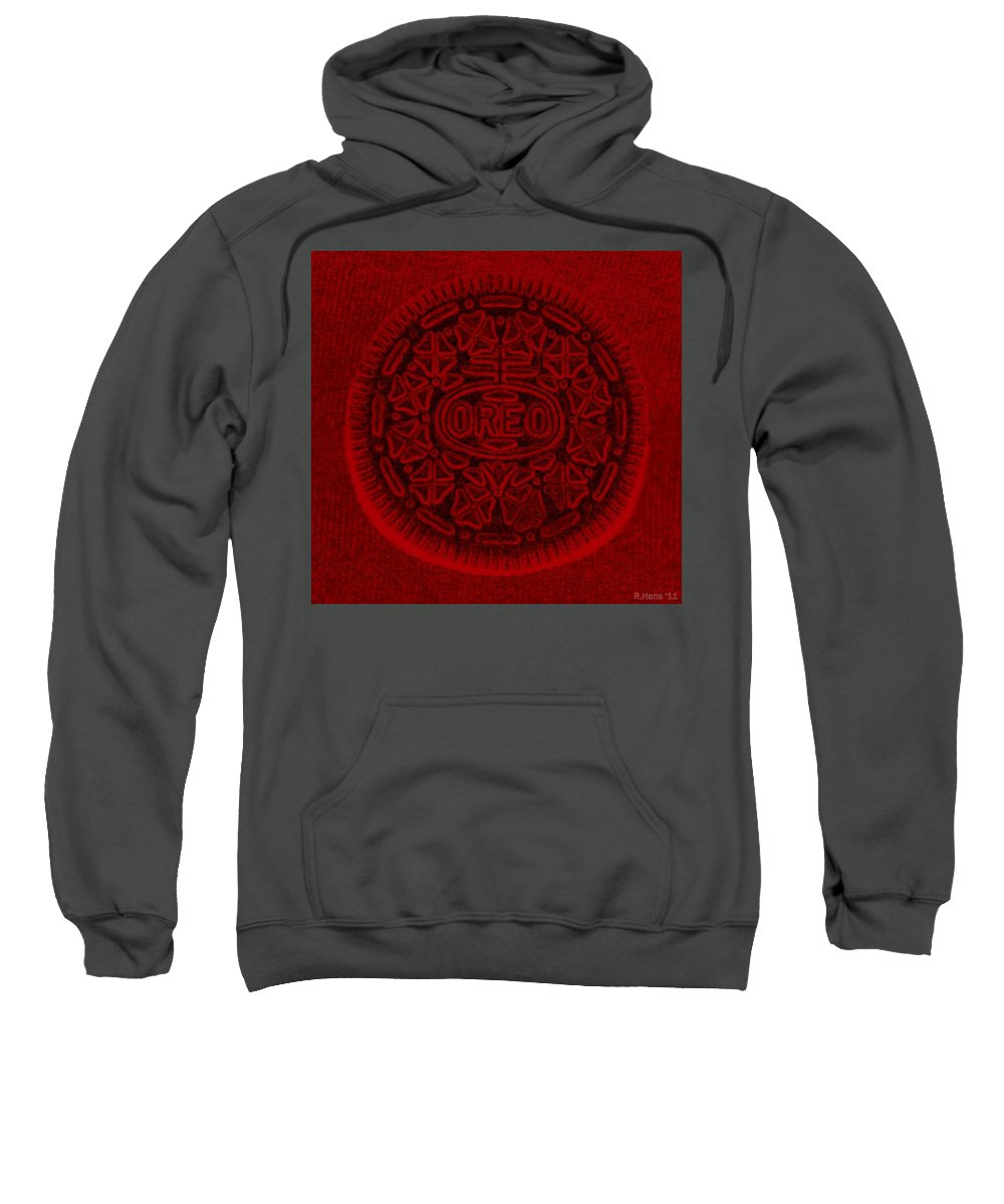 Oreo Sweatshirt featuring the photograph O R E O In Red by Rob Hans