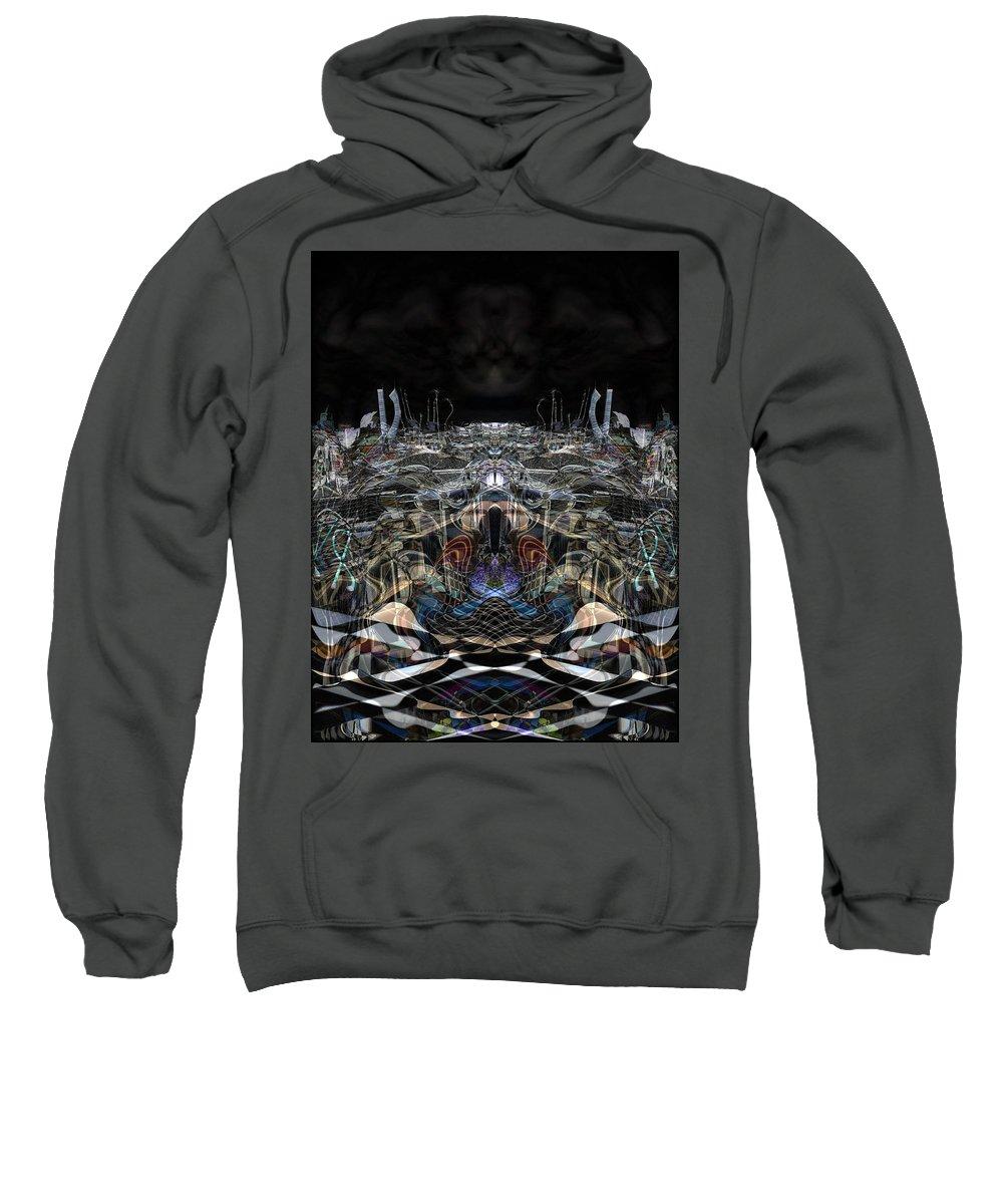 Deep Sweatshirt featuring the digital art Oa-3975 by Standa1one