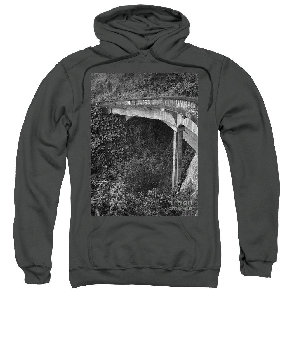 Bridge Sweatshirt featuring the photograph Oahu Birdge by Tommy Anderson