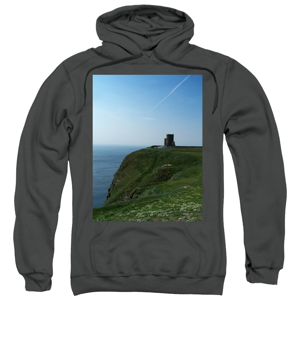 Irish Sweatshirt featuring the photograph O'brien's Tower At The Cliffs Of Moher Ireland by Teresa Mucha