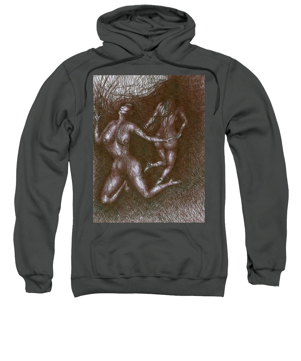 Psychedelic Sweatshirt featuring the painting Obsession by Wojtek Kowalski