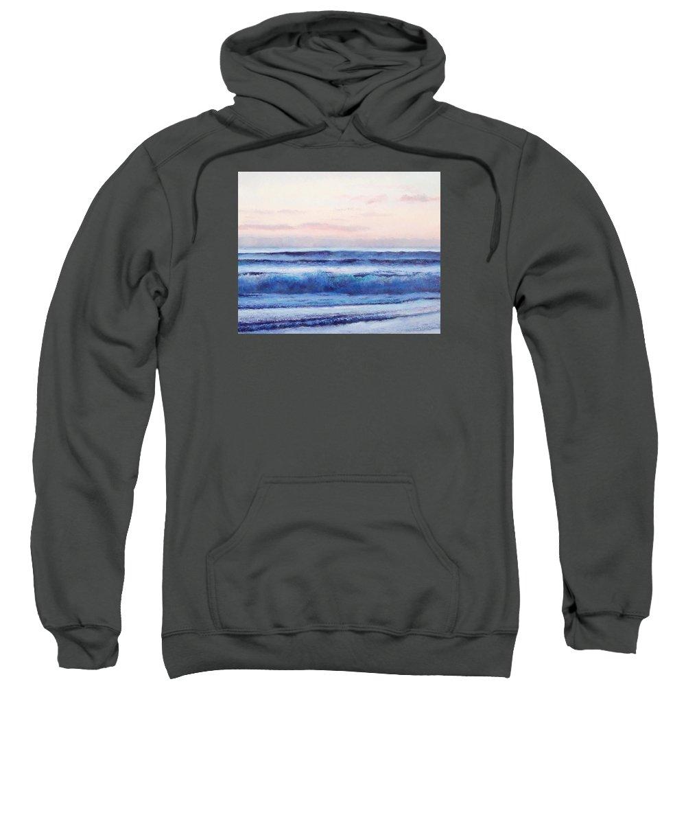 Ocean Sweatshirt featuring the painting Ocean Painting 'dusk' By Jan Matson by Jan Matson