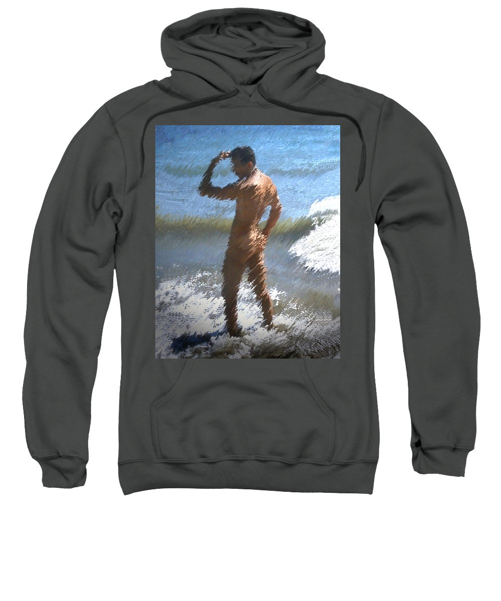 Nudes Sweatshirt featuring the photograph Ocean Thoughts by Kurt Van Wagner