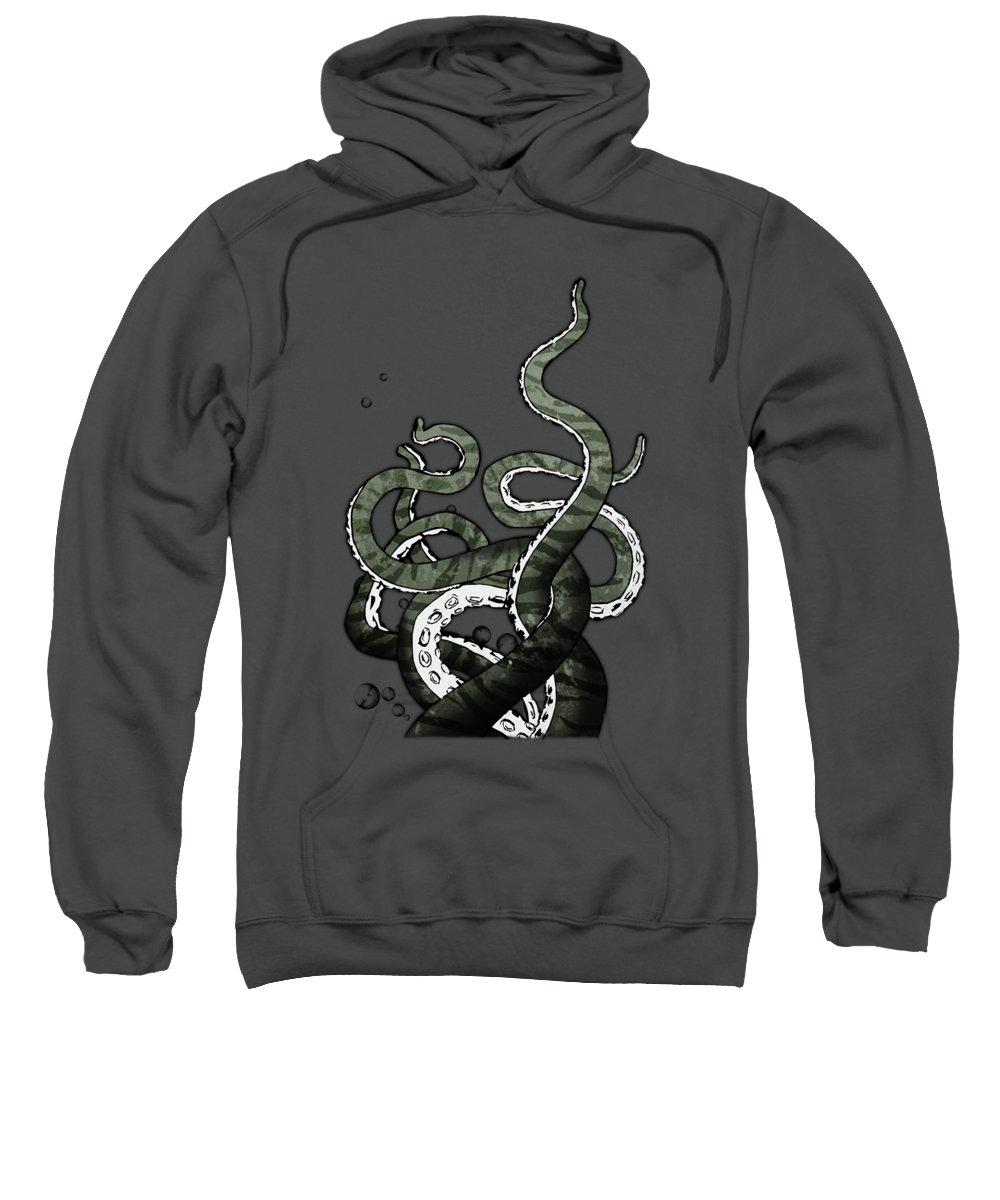 Octopus Sweatshirt featuring the digital art Octopus Tentacles by Nicklas Gustafsson