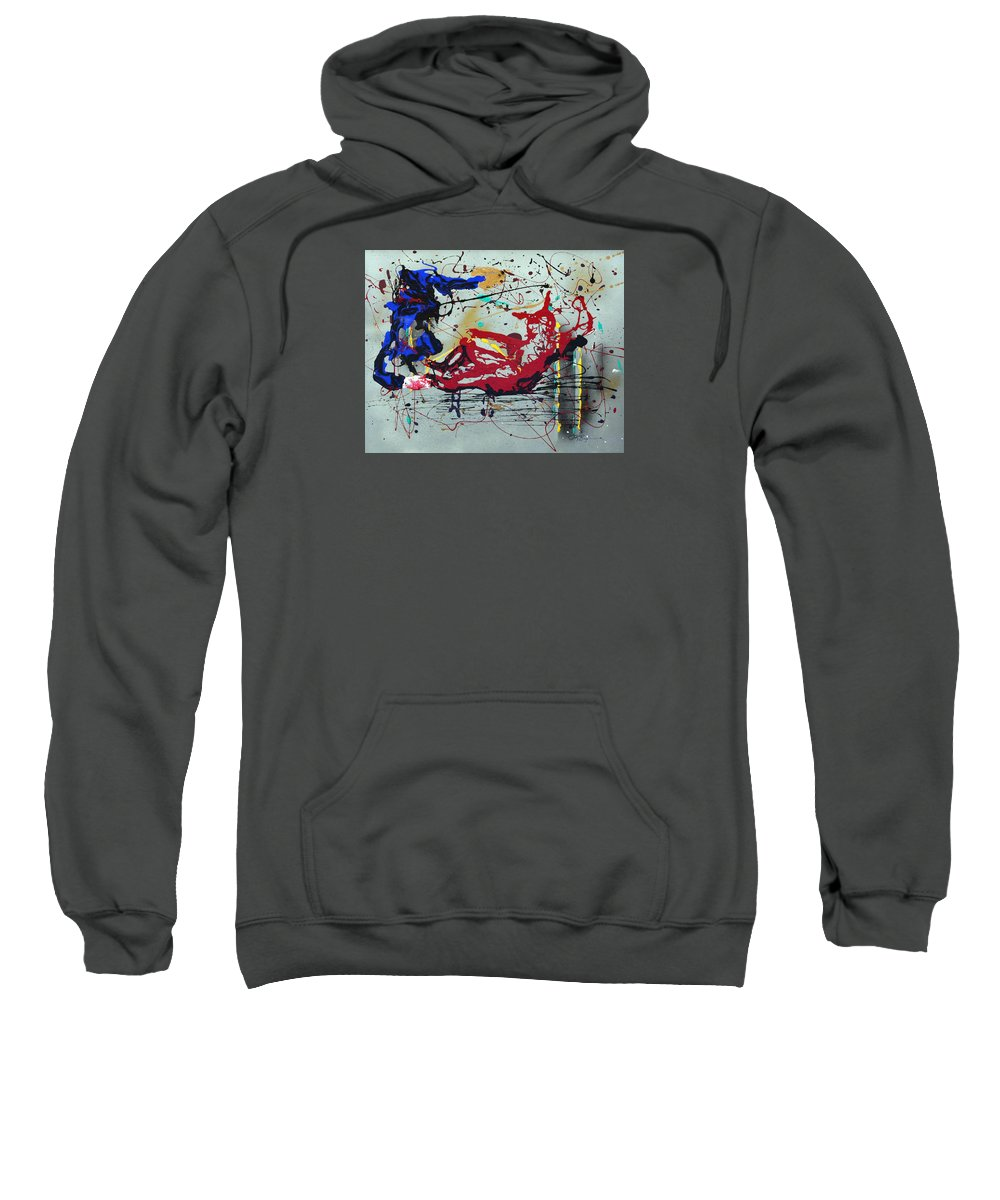 Impressionist Painting Sweatshirt featuring the painting October Fever by J R Seymour