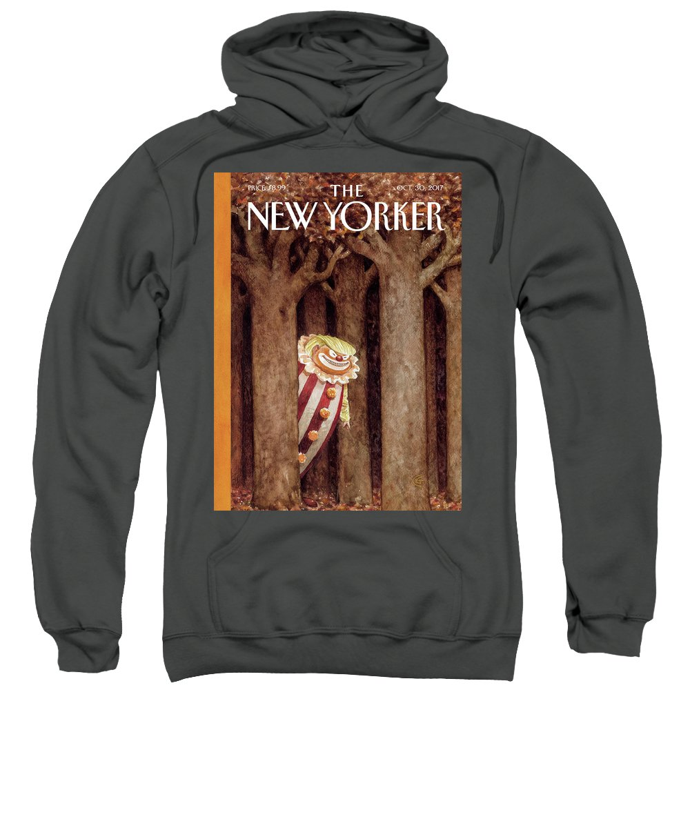 October Surprise Sweatshirt featuring the drawing October Surprise by Carter Goodrich