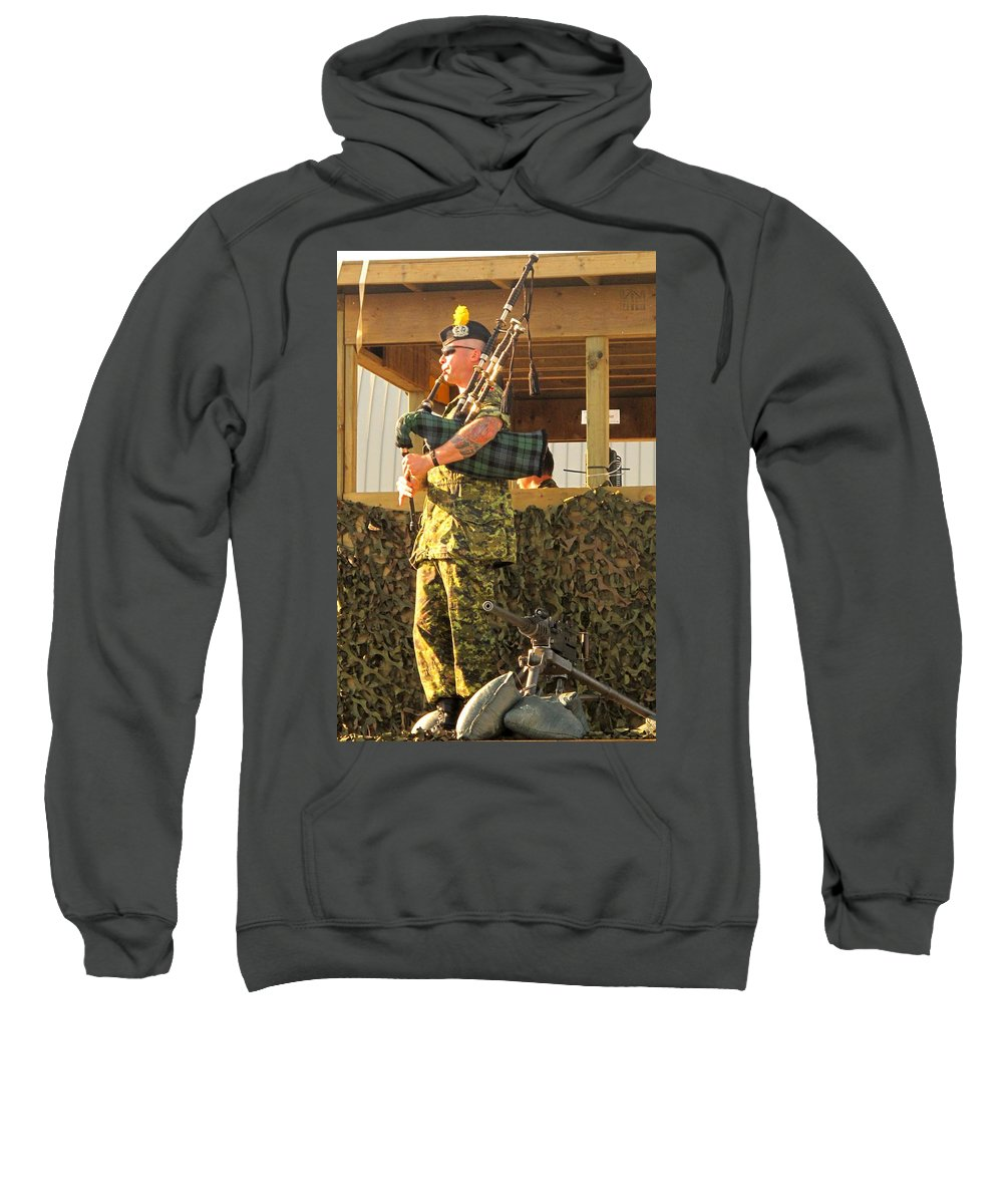 Machine Sweatshirt featuring the photograph Ode To A Machine Gun by Ian MacDonald