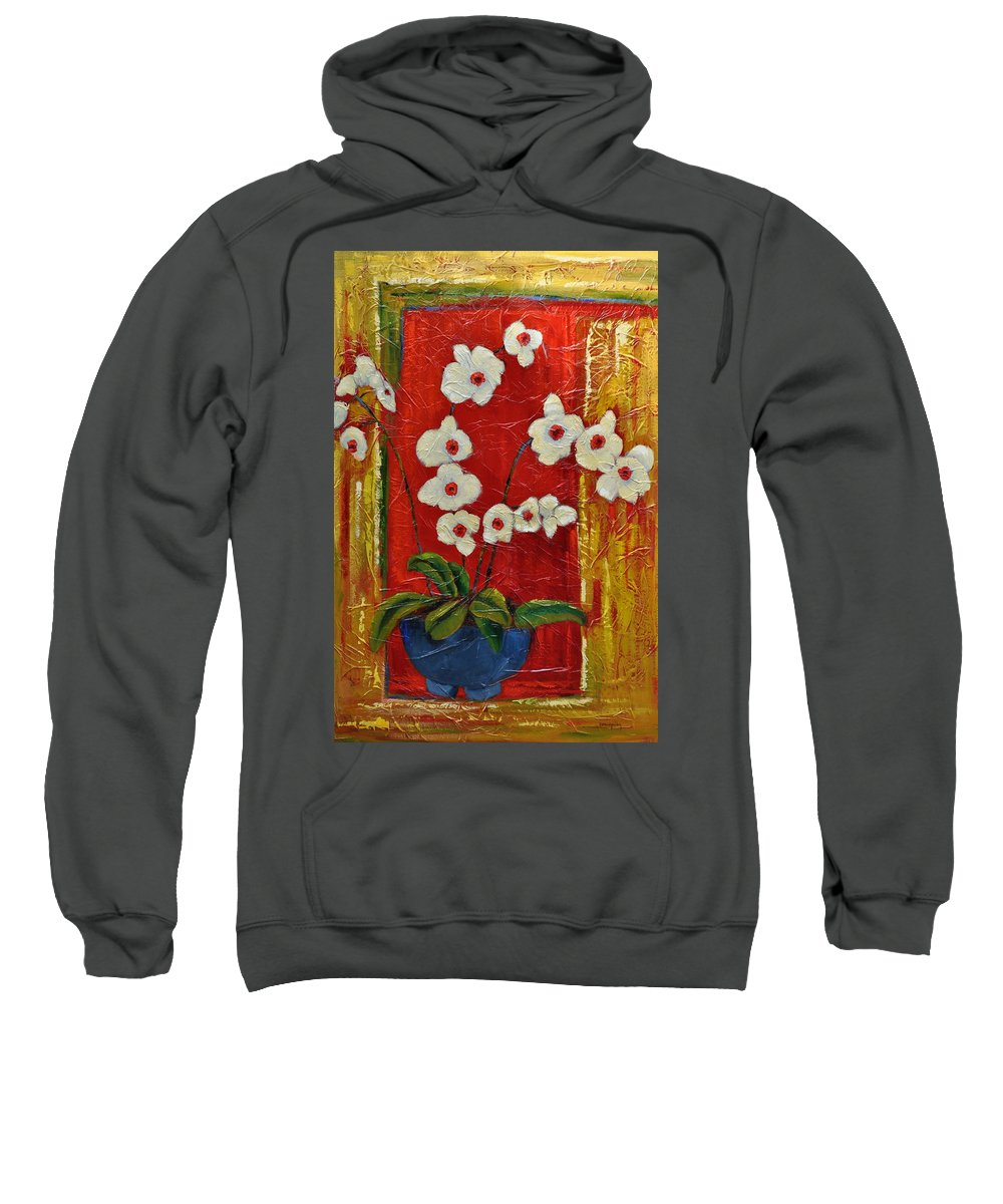 Orchids Sweatshirt featuring the painting Ode To Orchids by Ginger Concepcion