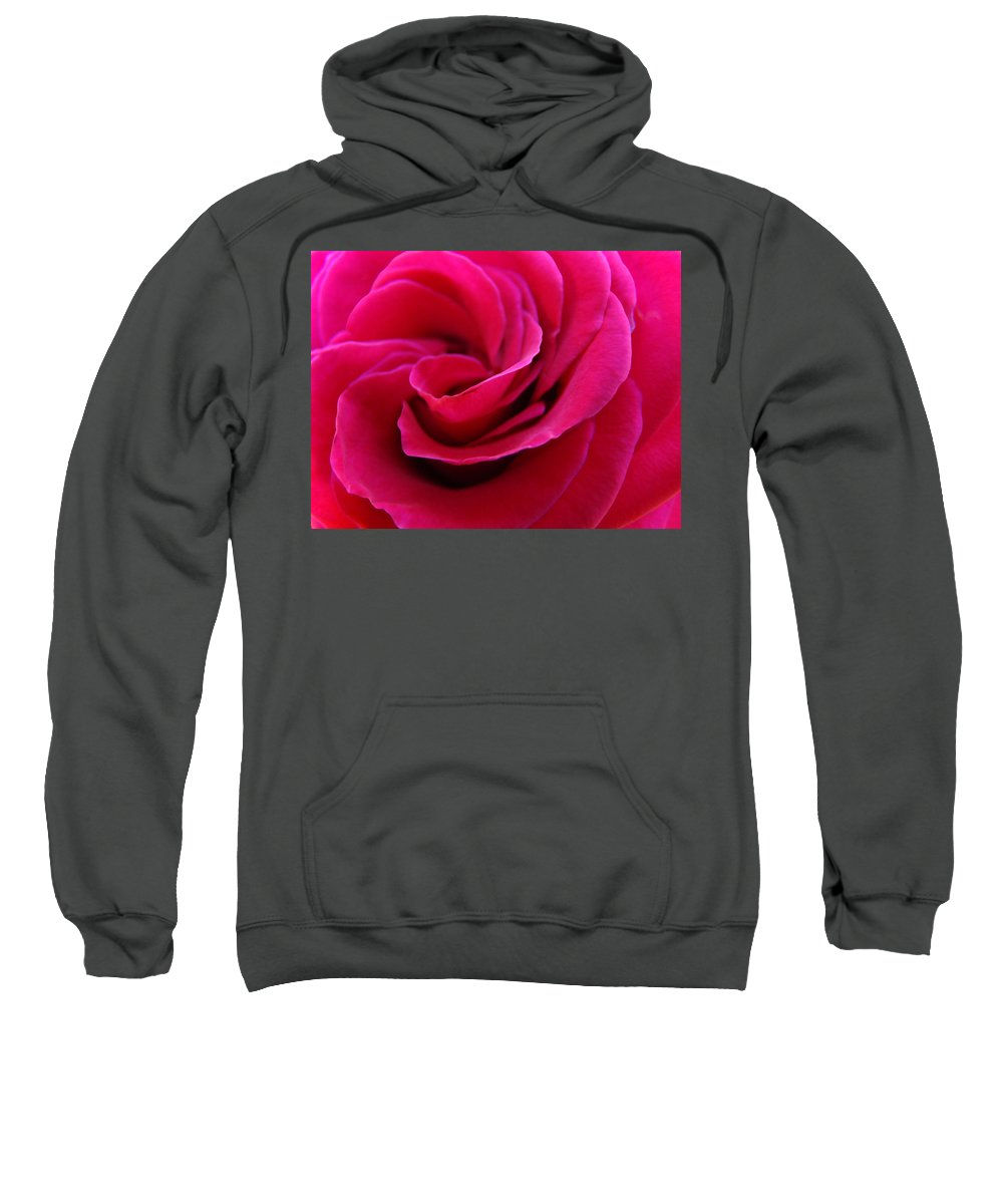 Rose Sweatshirt featuring the photograph Office Art Rose Spiral Art Pink Roses Flowers Giclee Prints Baslee Troutman by Baslee Troutman