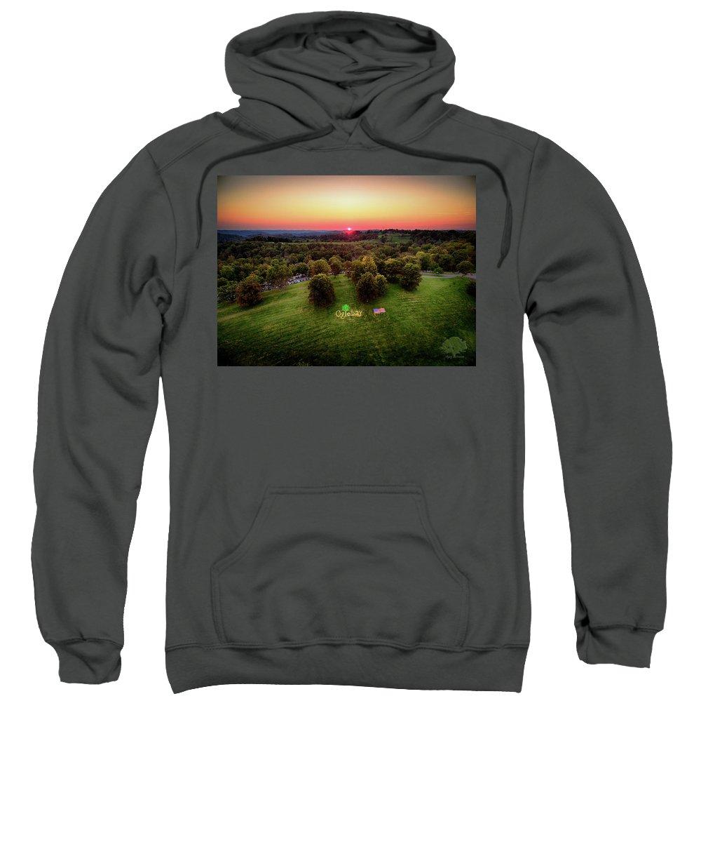Oglebay Sweatshirt featuring the photograph Oglebay Lights by Flying Dreams