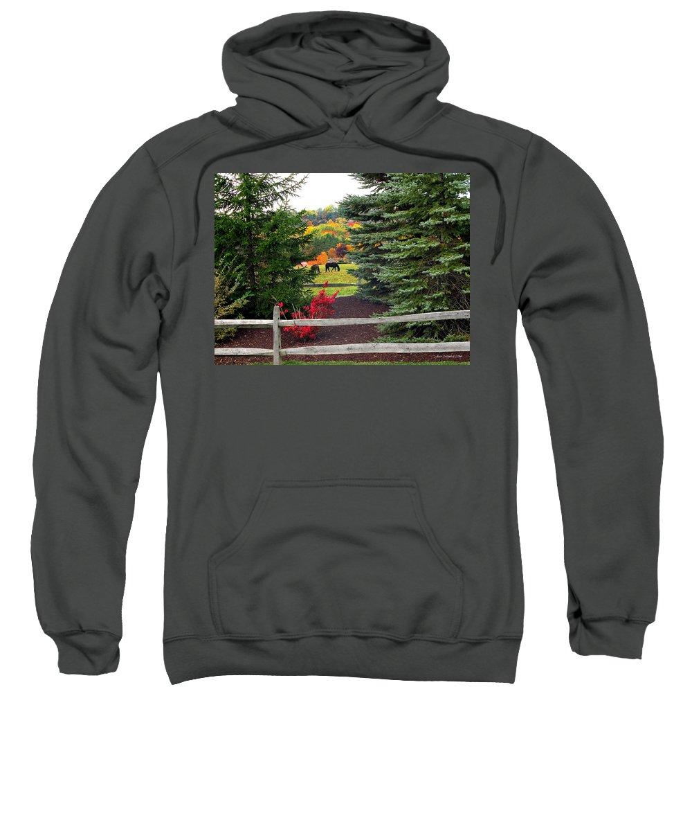 Autumn Sweatshirt featuring the photograph Ohio Farm In Autumn by Joan Minchak