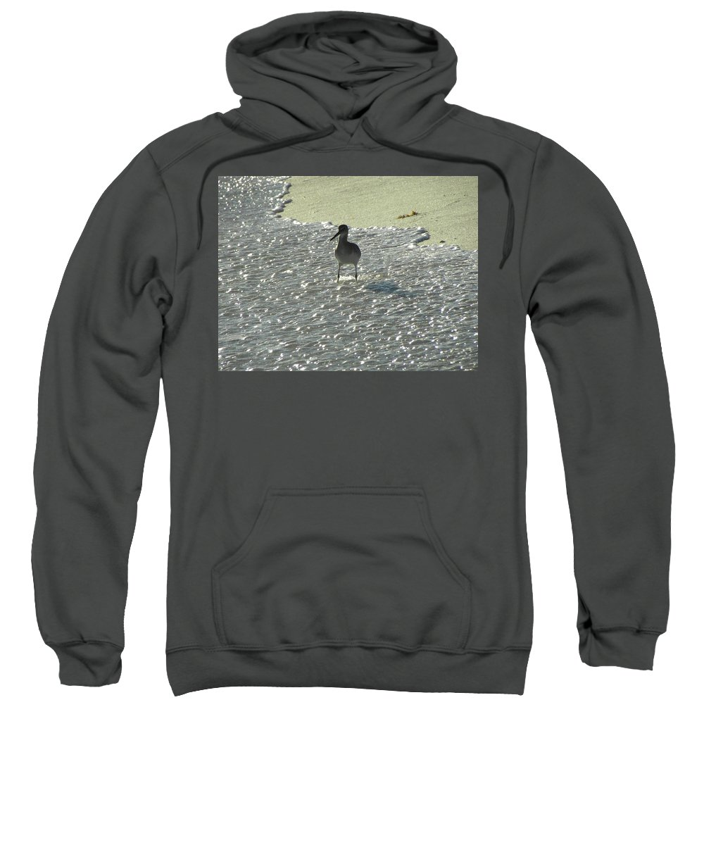 Beach Sweatshirt featuring the photograph Standing In The Wave by Shannon Turek