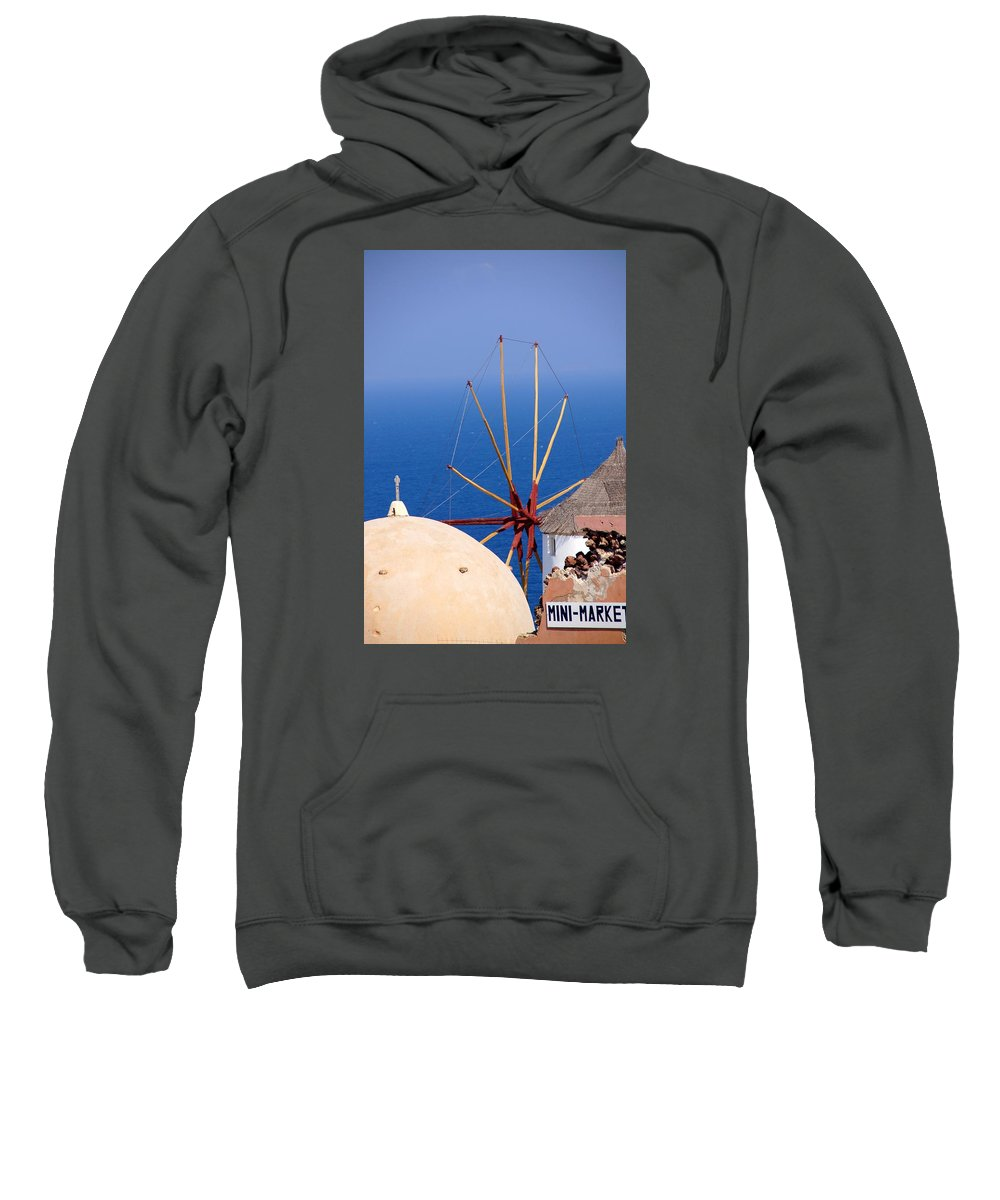 Windmill Sweatshirt featuring the photograph Old And New by Ron Koivisto