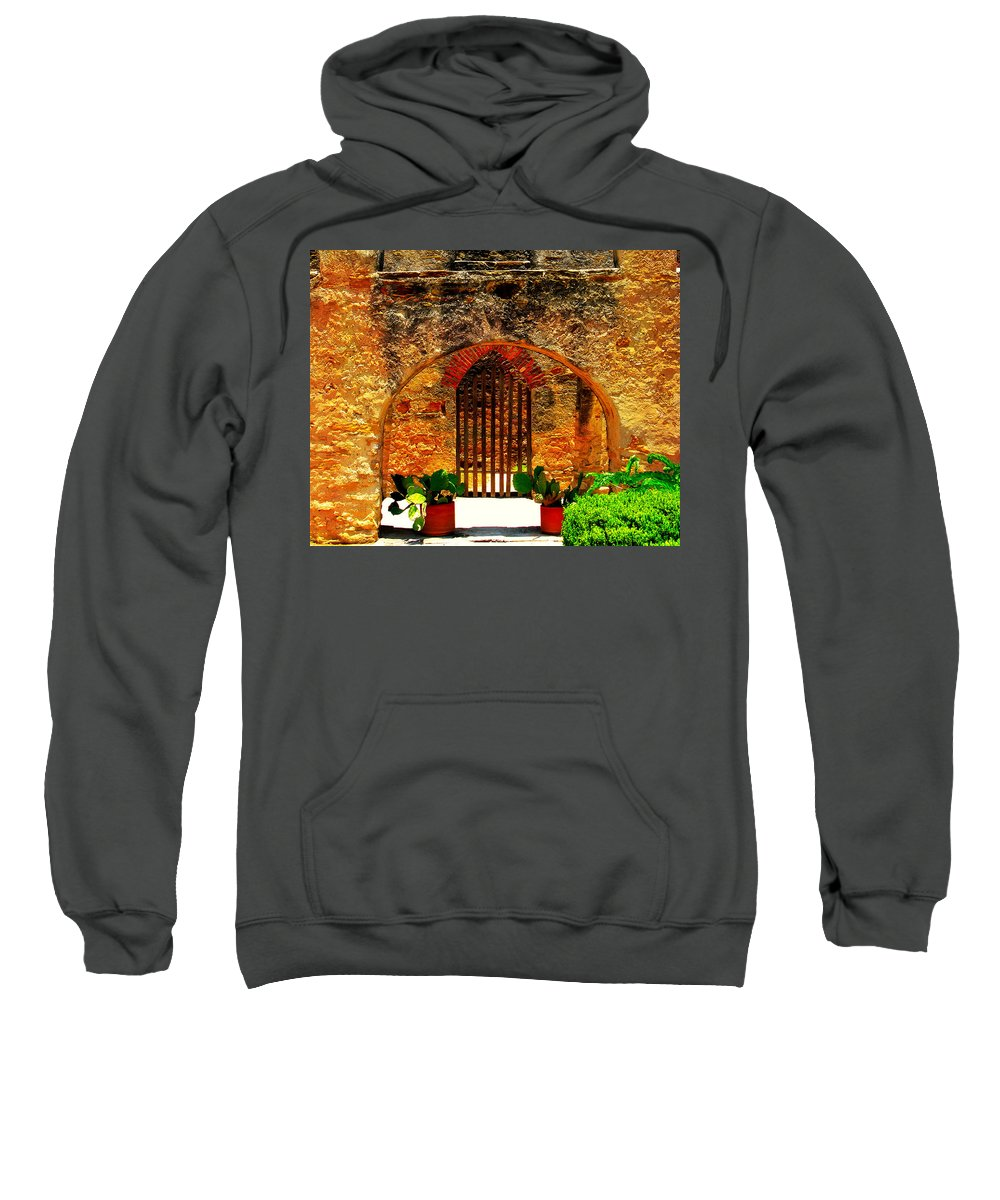 Arch Sweatshirt featuring the photograph Old Archway by Perry Webster