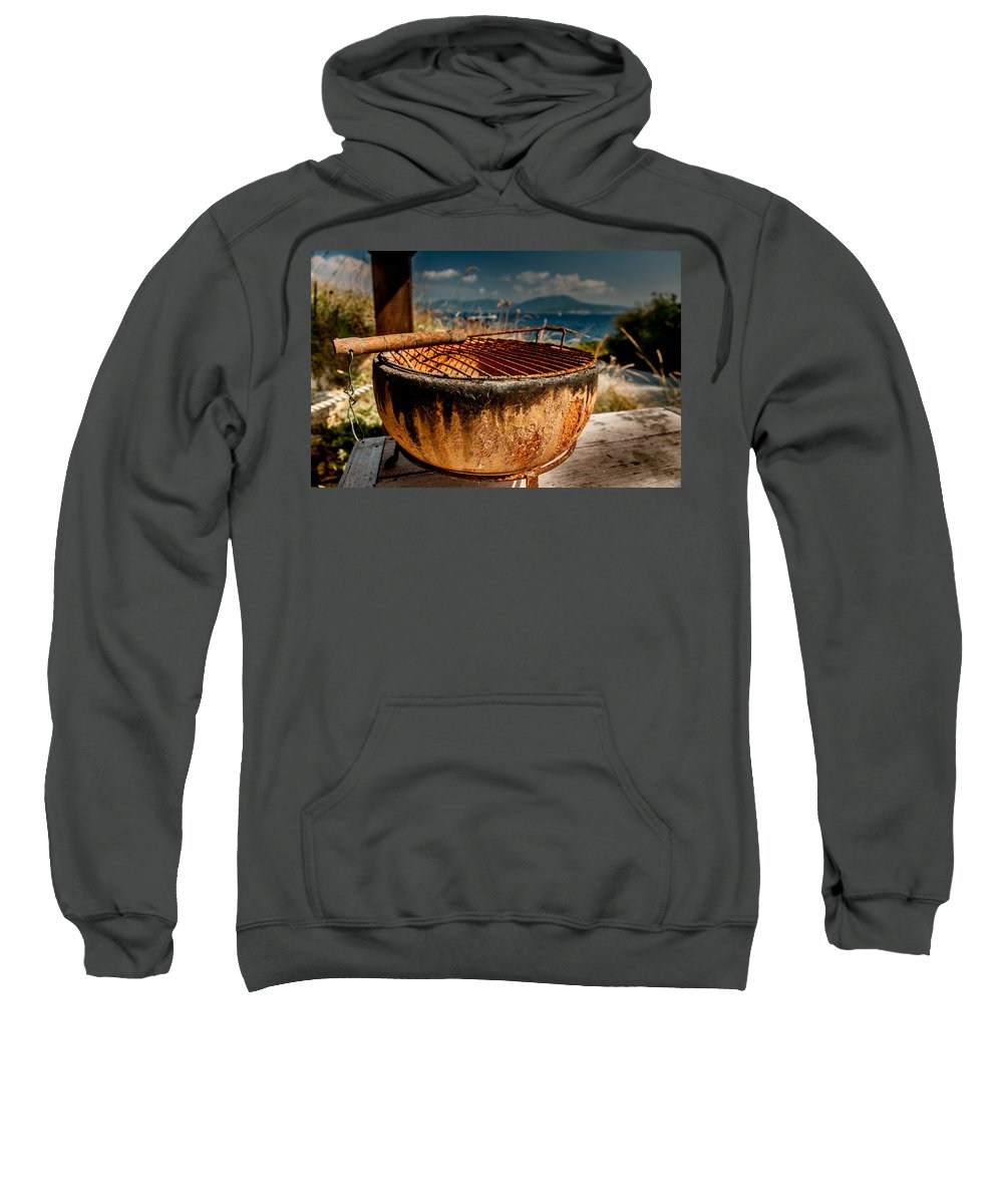 Barbecue Sweatshirt featuring the photograph Old Barbecue by Dragan Tomic