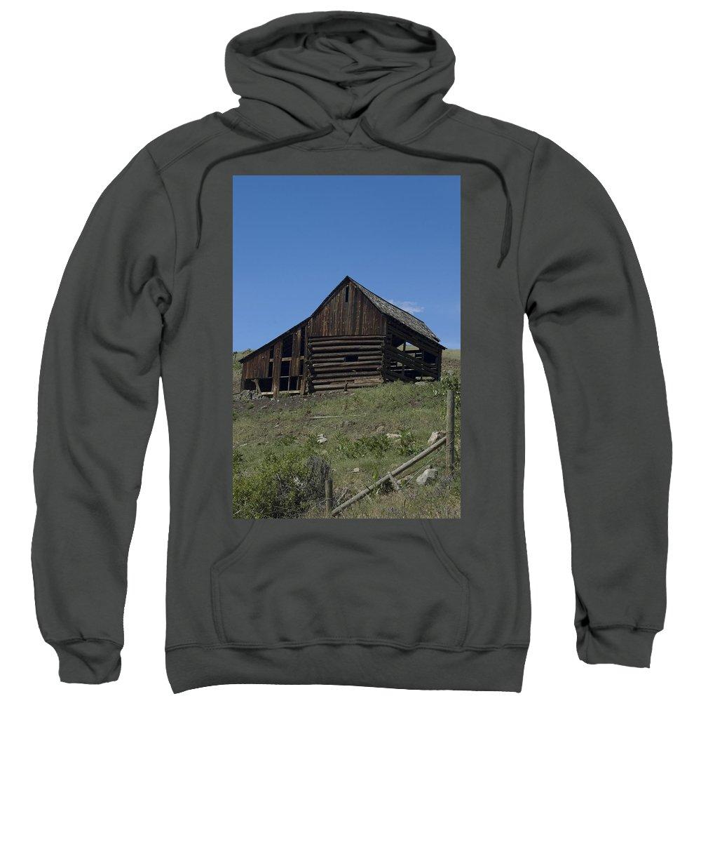 Old Barn Sweatshirt featuring the photograph Old Barn 1 by Sara Stevenson