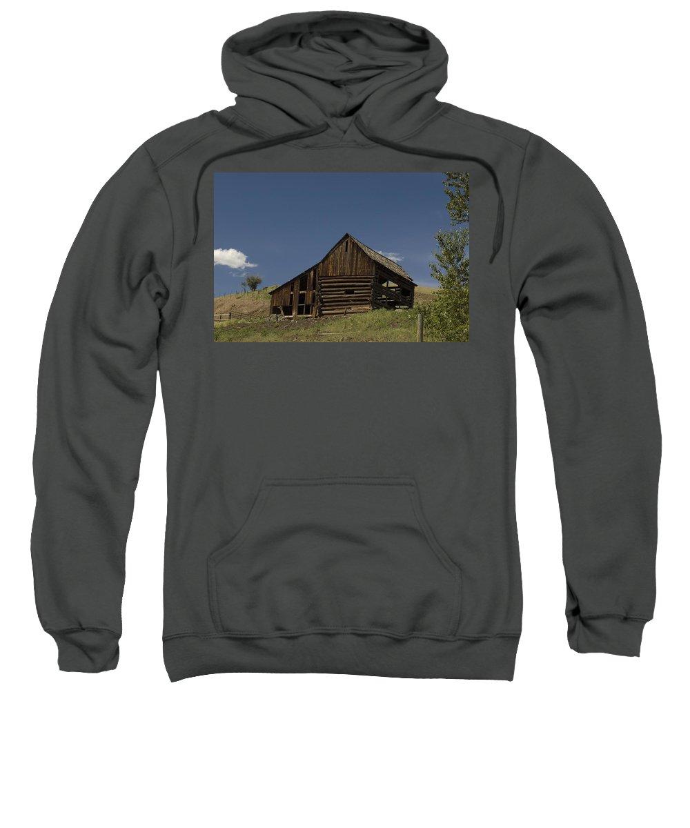 Old Barn Sweatshirt featuring the photograph Old Barn 2 by Sara Stevenson