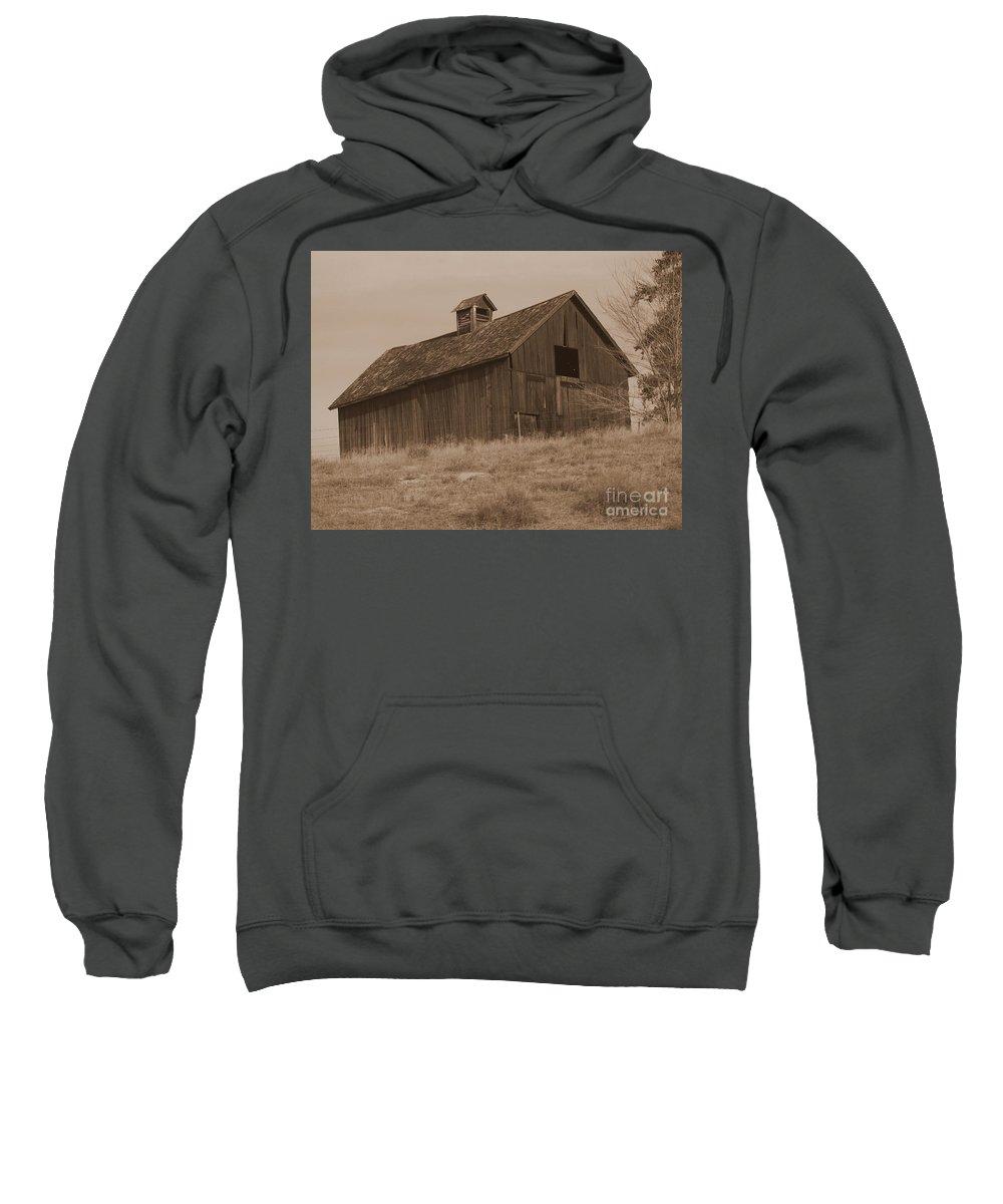 Old Barn Sweatshirt featuring the photograph Old Barn In Washington by Carol Groenen